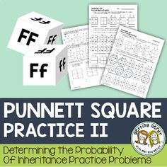 Punnett Square Practice for Genetics. Engage your students with this scaffolded lesson to teach them the basics of Punnett Squares and have them work their way up to more difficult monohybrid cross practice problems. With multiple methods of assessing t High School Biology, Biology Teacher, Science Biology, Teaching Biology, Middle School Science, Science Education, Life Science, Igcse Biology, Education Major