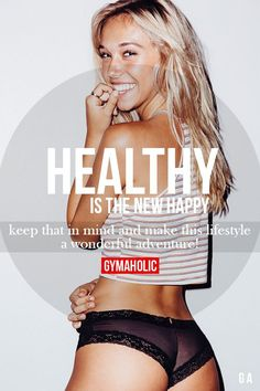Healthy Is The New Happy Fitness Revolution -> http://www.gymaholic.co/ #fit #fitness #fitblr #fitspo #motivation #gym #gymaholic #workouts #nutrition #supplements #muscles #healthy
