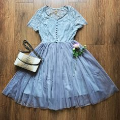 【Almost Gone】Lace See-Through Tulle Dress – The Other Sparrows Cute Dresses, Vintage Dresses, Flower Girl Dresses, Girly Outfits, Cute Outfits, Petite Women, Spring Outfits, Spring Clothes, Tulle Dress