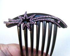 Vintage French Twist comb rhinestone hair by ElrondsEmporium