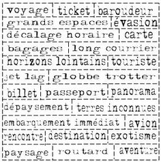 1000 mots voyage
