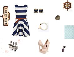 """sailor date"" by haleyjames15 on Polyvore"