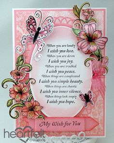 Heartfelt Creations | Pink Lilies And Butterflies