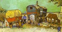 The Gypsie Camp by Vincent Van Gogh