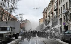 Sergey Larenkov is a Russian photographer that composites WWII photos from the early 1940s to present day identical locations from Berlin, Paris, Vienna, Leningrad, Prague, and other European cities. By merging these two timelines in perspective, this allows the viewers to visualize the ordeal of emotions through digital time travel.
