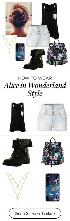 """""""Untitled #171"""" by beck133 on Polyvore featuring Solid & Striped, LE3NO, Disney, BaubleBar and Refresh"""