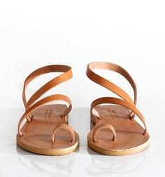Sandals Leather sandals Toe ring sandals / Ankle by SAVOPOULOS