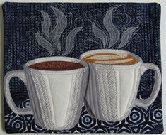Good Morning art quilt, Tea or Coffee?  quilt challenge by Terry Aske Art Quilts
