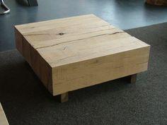 Bielzen salontafel Zware Eiken balken 80 x 73 cm € 295,-