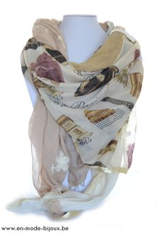 Foulard grand carr rose poudr hypnochic hypnochic for Taupe rose poudre