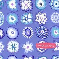 Kaffe Fassett Collective Blue Button Flowers Yardage <br/>SKU