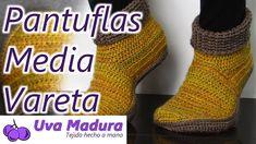 Pantuflas a Crochet Ganchillo en Media Vareta Paso a Paso #Pantuflas #Slippers #CrochetPantuflas #CrochetSlippers #Technicolourcrafters #Ganchilleando #Yarntherapy #Clevercrafters #Yarnobsessed #Tejedora #Crochetastherapy #Scheepjes #Ganchillocreativo #Excerpts #Tejermola #Crochelove #Hakeln #Crochelovers #Crochetyarn #Hackovanie #Tejedoras #Tejeresdeguapas #Ilovecrocheting #Crochetgoodness #Ganxet #Hilodealgodon #Tiğ #Horgolás #Elörgüsü #Crochê #Elişi #Örgü #Crochet_relax #DIY Crochet Slippers, Crochet Yarn, Crochet Designs, Hand Knitting, Handmade, Gifs, Slipper, Socks, Step By Step