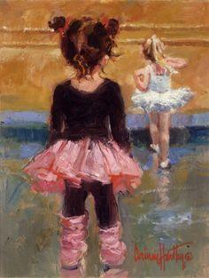 She& Good by Corinne Hartley Oil ~ 14 x 11 Ballerina Kunst, Ballerina Painting, Painting People, Painting For Kids, Art For Kids, Art Children, Art Ballet, Ballet Girls, Impressionist Artists