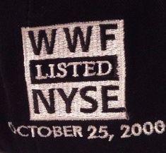 WWF Hat Cap World Wrestling Federation Scratch Logo 2000 Stock Listed NYSE  WWE. Stock ListMen s ... e56ffce26aae
