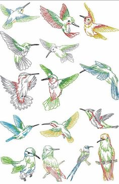 hummingbird pattern embroidery - Поиск в Google