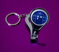 Dr Who Tardis 3 in 1 Key Chain Nail by UnofficiallyOriginal
