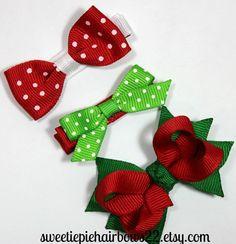 Baby Christmas Hair Clip Set Snap Clip