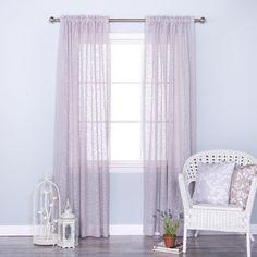 Best Home Fashion Vintage Leaves Burnout Sheer Rod Pocket Curtain Panels Grey - JC_11074_BRANCH-84-GREY