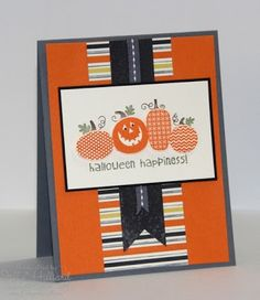 Stamps: Halloween Happiness Paper: Basic Gray, Pumpkin Pie, Basic Black, Very Vanilla, Whitches' Brew Dsp Ink: Basic Gray, Pumpkin Pie, Old ...