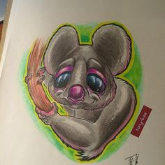 And i finished The koala #newschool#art#tattoo