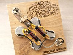Arty's Custom Guitars Gibson SG Black Beauty prewired Harness Assembly Kit wiring Gibson Gibson Sg, Gibson Les Paul, Sg Standard, Custom Guitars, Kit, Vintage, Personalized Items, Black Beauty, Twists