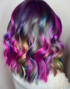 In the modern year of 2019 every stylish girls and superior ladies want to Cute Hair Colors, Beautiful Hair Color, Cool Hair Color, Brown Hair Colors, Purple Hair, Medium Short Hair, Medium Hair Styles, Long Hair Styles, Sandy Brown Hair