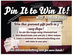 Pin It to Win It with Alexia Foods! #HeresToFood