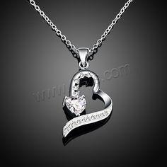Jewelry Necklace, Brass, Heart