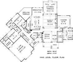 Cottage Country Craftsman Traditional House Plan 58290 Level One