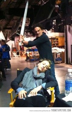 Johnny Galecki being awesome.