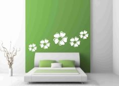 White Flowers Wall Decals by jane77