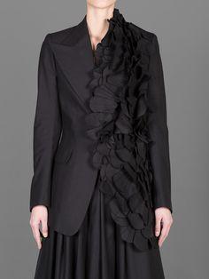Yohji Yamamoto F/W 2014 #fabric #manipulation #jacket