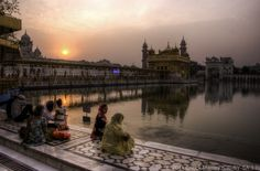 Just hanging out at the The Golden Temple in Amritsar, Punjab, India.  This is a sunrise HDR taken with a Pentax K-5.