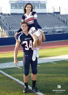 Football player cheerleader couple