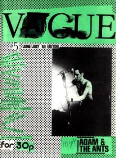vague Arguably the best of the early eighties post punk scenes, Vague was a major work. It was thick, well bound and full of massive sprawling articles on pre fame Adam And The Ants, the proto Goth scene, squatting, anarchism, Apocolpyse Now and long road stories. It felt radical and dangerous and was a portal into punk becoming a lifestyle. Editor Tom Vague was bang in the middle of an emerging subculture that would soon be mislabeled Goth