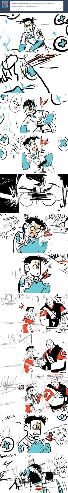 NOBODY CARES THE MEDIC by Konniwa