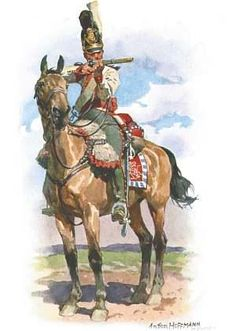 A Bavarian Dragoon, there were 2 Regiments before being converted to Chevaux-Legere.