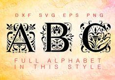 Ages  Fonts dxd PNG svg eps Alphabets Letters Cuttable