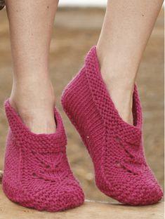Strik skønne tøfler i pink