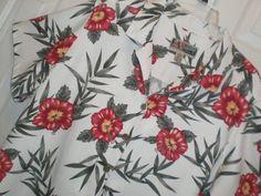 WOMENS 2X XXL LA CABANA s/s ALOHA HAWAIIAN SHIRT top BLOUSE floral print #LaCabana #Blouse #Casual