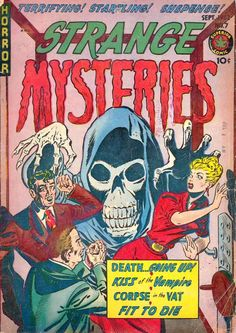 Comic Book Cover For Strange Mysteries #7