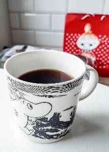 Todays Moomin mug.  Adventure B&W.  More about the series in the next slides.