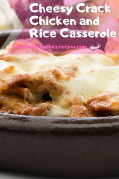 Cheesy Crack Chicken and Rice Casserole Recipe. Are you looking for a great healthy recipe that is filled with taste. #LeftoverRotisserieChicken #RotisserieKip #HealthyRotisserieChickenRecipes #DefNot #LeDiner #CrackChicken #QuickEasyMeals #YummyEasyDinners #EasyDinnersForTwo Cheap Recipes, Easy Delicious Recipes, Top Recipes, Simple Recipes, Cheap Meals, Amazing Recipes, Dinner Recipes, Famous Recipe, My Best Recipe