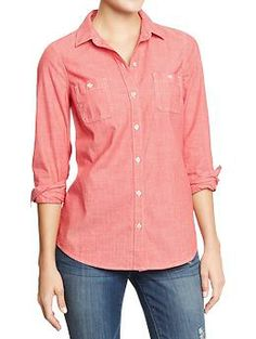1000 images about pants on pinterest old navy printed for Denim shirt women old navy