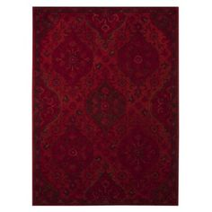 Overdyed Area Rug - Red   A great rug for the wooden floors  ...