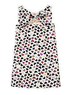 Toddlers' Vivien Dress, Dancing Hearts Cream