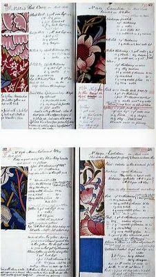 Morris dye book 1882 - 1891