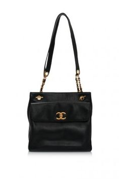 Vintage Pre-Owned Chanel Caviar Leather Medium Shopping Tote