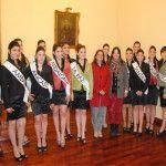 La gobernadora Lucía Corpacci recibió a las candidatas a reina del Poncho 2014