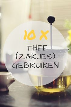 wat te doen met gebruikte thee(zakjes) - Awkward Duckling Recycled Crafts, Diy Crafts, Vallejo Paint, Diy Recycling, Lets Do It, Food Containers, Zero Waste, Awkward, A Food